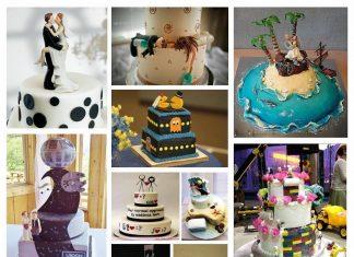 Egyedi esküvői torta